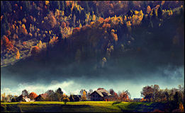 Paisagem bonita do farelo Romênia de Pestera Imagem de Stock Royalty Free