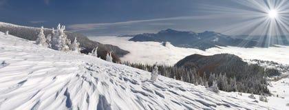 Paisagem bonita do inverno Imagens de Stock