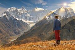 Paisagem bonita do outono, montanhas Rússia de Altai Fotos de Stock Royalty Free
