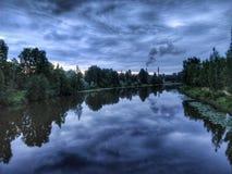 Paisagem bonita do rio Fotos de Stock Royalty Free