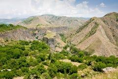 Paisagem bonita do verão, em Garni, Arménia Imagens de Stock Royalty Free