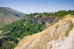Paisagem bonita do verão, em Garni, Arménia Imagem de Stock