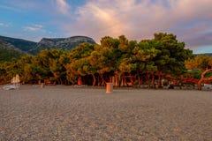 Paisagem bonita do verão na praia Imagem de Stock