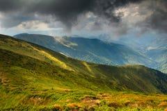 Paisagem bonita do verão nas montanhas Foto de Stock