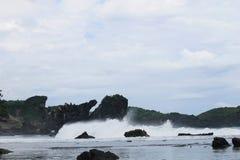 Paisagem bonita em Gunung Kidul, Yogyakarta Foto de Stock Royalty Free