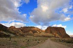 Paisagem bonita em Piedra Parada, vale de Chubut, Argentina fotos de stock