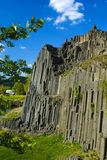 Paisagem bonita - estrutura da rocha do basalto Fotos de Stock