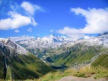 Paisagem bonita na montanha em Suíça Fotos de Stock