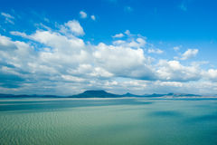 Paisagem bonita no lago Balaton Fotografia de Stock Royalty Free