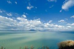Paisagem bonita no lago Balaton Foto de Stock