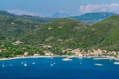 Paisagem bonita no verão em Grécia fotos de stock royalty free