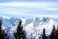 picos Neve-brancos Fotografia de Stock Royalty Free
