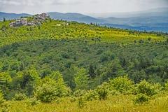 Paisagem cênico de camadas da montanha em Grayson Highlands imagem de stock