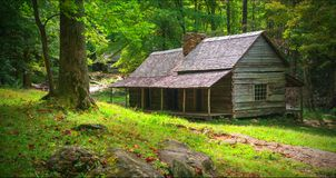 Paisagem cênico do parque nacional de Great Smoky Mountains fotografia de stock