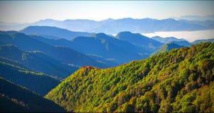 Paisagem cênico do parque nacional de Great Smoky Mountains fotos de stock