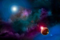 Paisagem cósmica Imagens de Stock Royalty Free