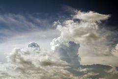 Paisagem calma da nuvem fotografia de stock