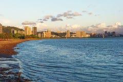 Paisagem calma do por do sol em torno do estuário Imagem de Stock
