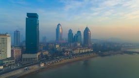 Paisagem China da costa de Qingdao imagem de stock