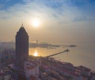 Paisagem China da costa de Qingdao fotos de stock