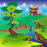 Paisagem chinesa Imagem de Stock Royalty Free