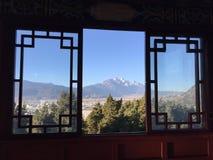 Paisagem chinesa através da janela Foto de Stock