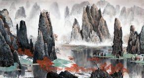 Paisagem chinesa das montanhas e da água Imagens de Stock