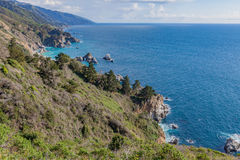 Paisagem cênico da costa de Califórnia Imagens de Stock