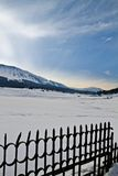 Paisagem coberto de neve, Kashmir, Jammu And Kashmir, Índia fotos de stock