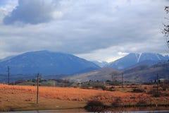 Paisagem colorida bonita da montanha do outono dentro Fotografia de Stock
