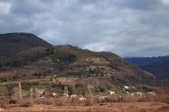 Paisagem colorida bonita da montanha do outono dentro Imagens de Stock Royalty Free