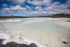 Paisagem colorida da água na lagoa azul famosa fotografia de stock royalty free