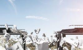 Paisagem colorida da montanha do verão Imagens de Stock