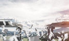 Paisagem colorida da montanha do verão Fotografia de Stock Royalty Free