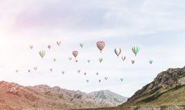 Paisagem colorida da montanha do verão Foto de Stock