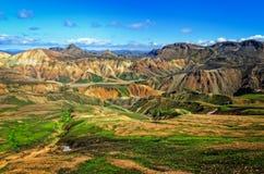 Paisagem colorida das montanhas de Landmannalaugar foto de stock