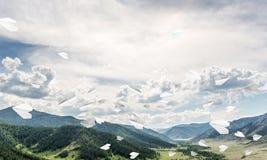 Paisagem colorida das montanhas do verão Foto de Stock Royalty Free
