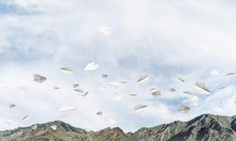 Paisagem colorida das montanhas do verão Imagens de Stock