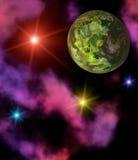 Paisagem colorida do espaço ilustração royalty free