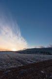 Paisagem colorida do por do sol no inverno Imagem de Stock Royalty Free