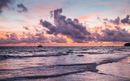 Paisagem colorida República Dominicana imagem de stock