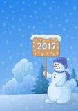 Paisagem com árvores de Natal ilustração royalty free