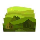Paisagem com arbustos Imagem de Stock Royalty Free