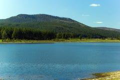 Paisagem com as montanhas de Ural Fotos de Stock Royalty Free