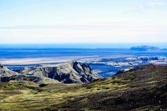 Paisagem com as montanhas em Islândia Foto de Stock