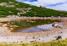 Paisagem com as montanhas em Slovakia Fotografia de Stock