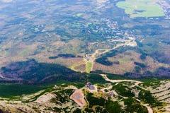 Paisagem com as montanhas em Slovakia Foto de Stock