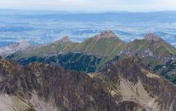 Paisagem com as montanhas em Slovakia Fotos de Stock