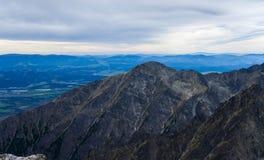Paisagem com as montanhas em Slovakia Imagem de Stock