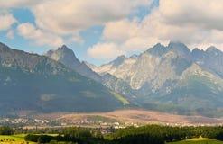 Paisagem com as montanhas em Slovakia Imagens de Stock Royalty Free